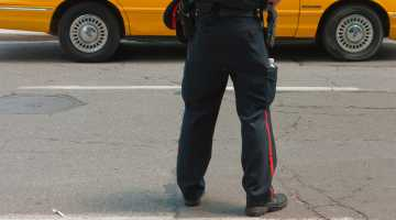 Traffic officer in Toronto