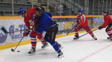 Kolten Carpenter took to the ice in day one of Spruce Kings camp