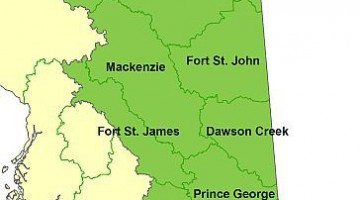 The Prince George Fire Centre. Image courtesy of the BC Wildfire Service