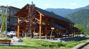 A pavilion in Pemberton built by TFG. Photo taken from Gill's presentation to Council