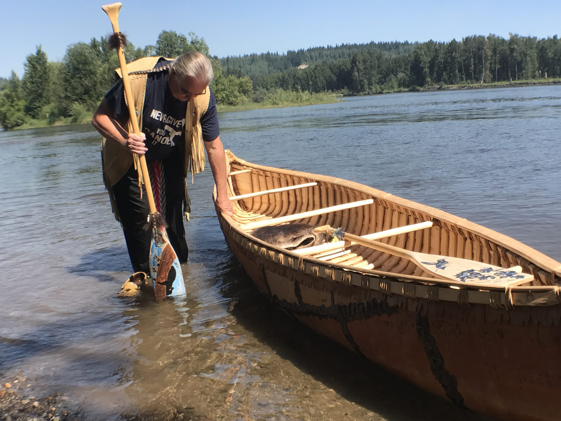 UNBC CCFPG Launch Handmade Canoe As Symbol Of Hope