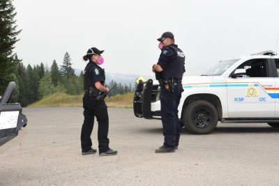 RCMP patrol evacuated neighbourhoods during wildfire activity