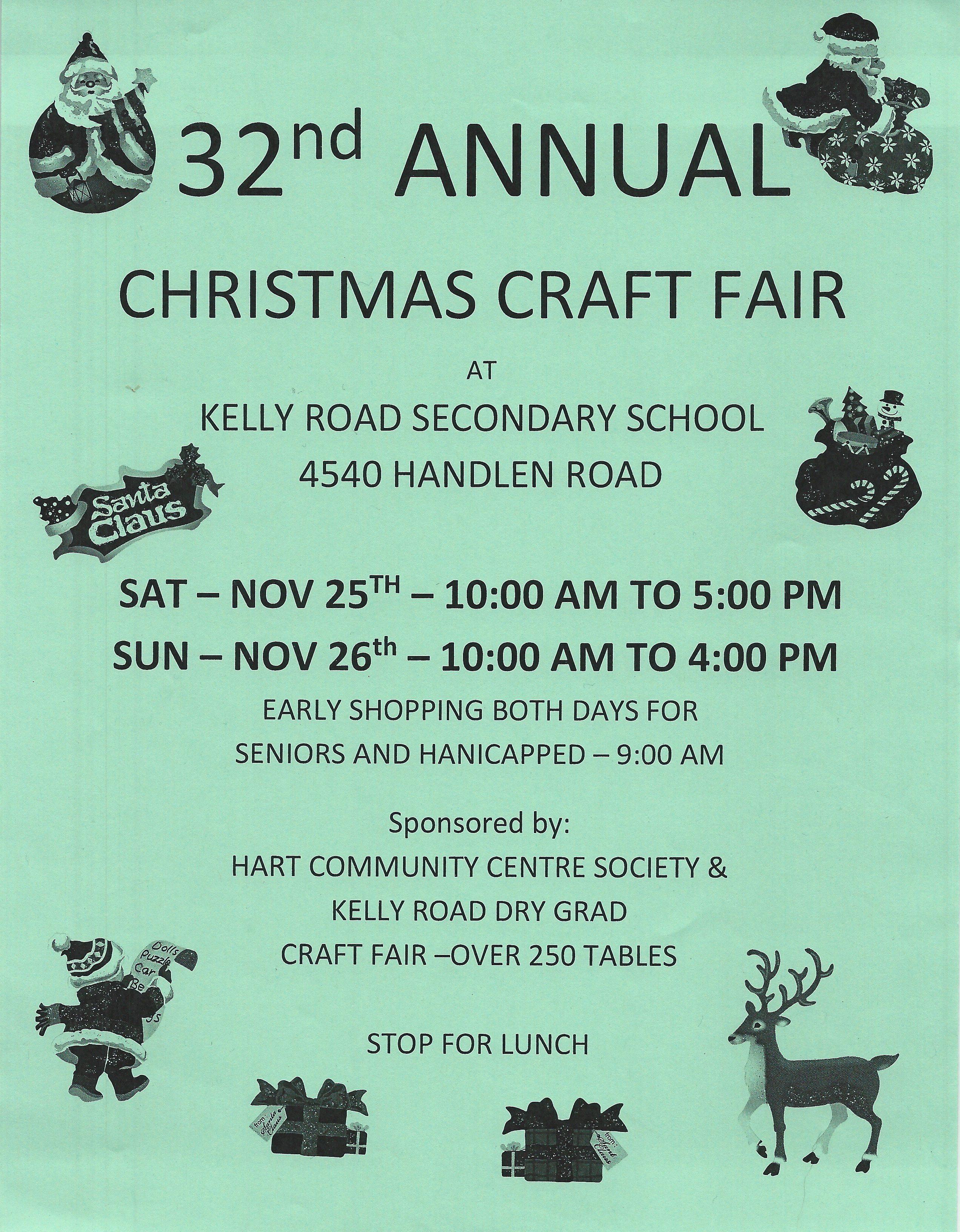 Kelly Road Secondary Craft Fair
