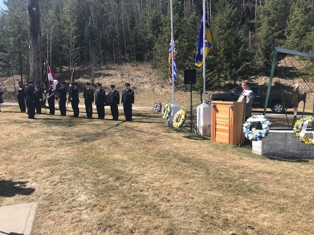 Day of Mourning ceremony at St. Andrew Square