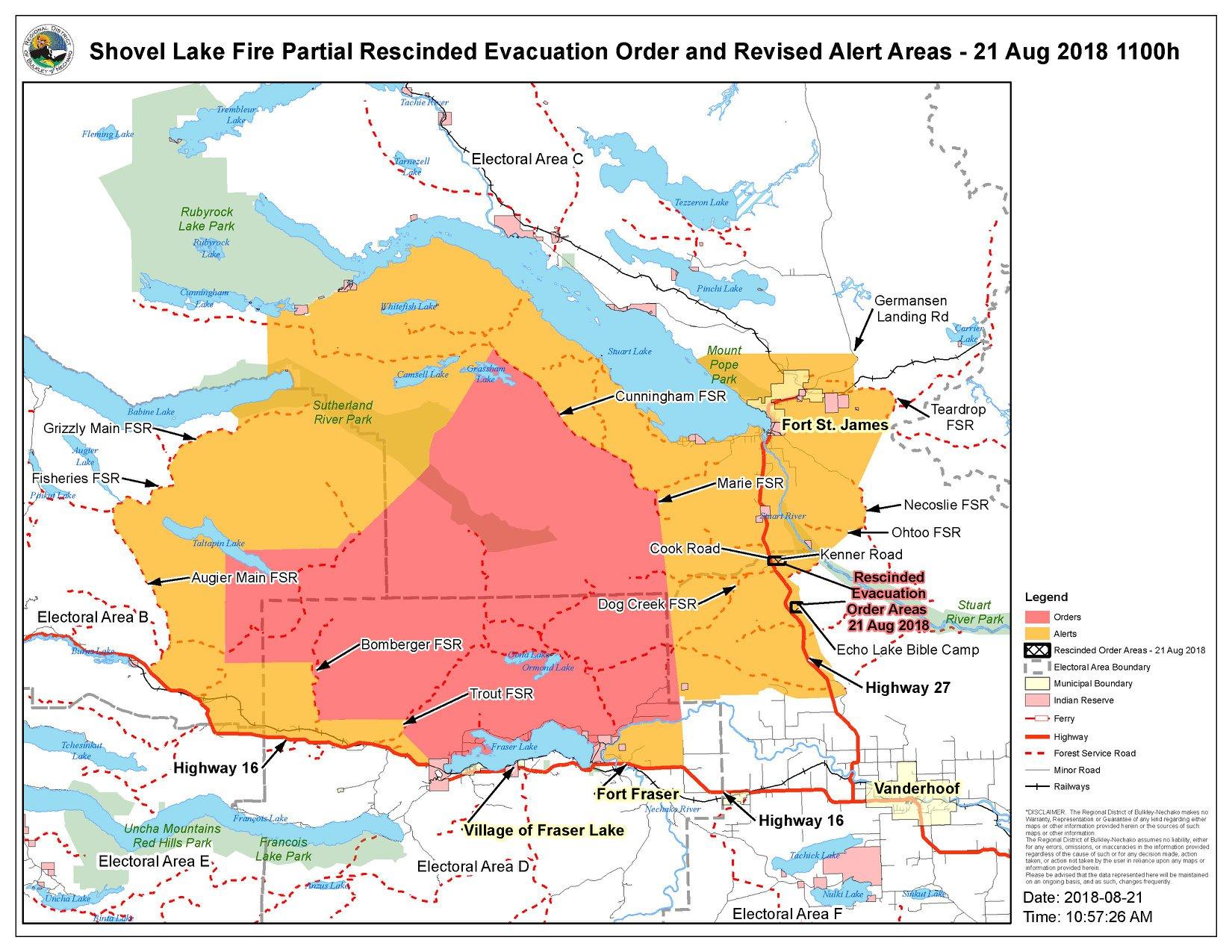 Rdbn Downgrades Evacuation Order For Dog Creek Echo Lake Bible Camp