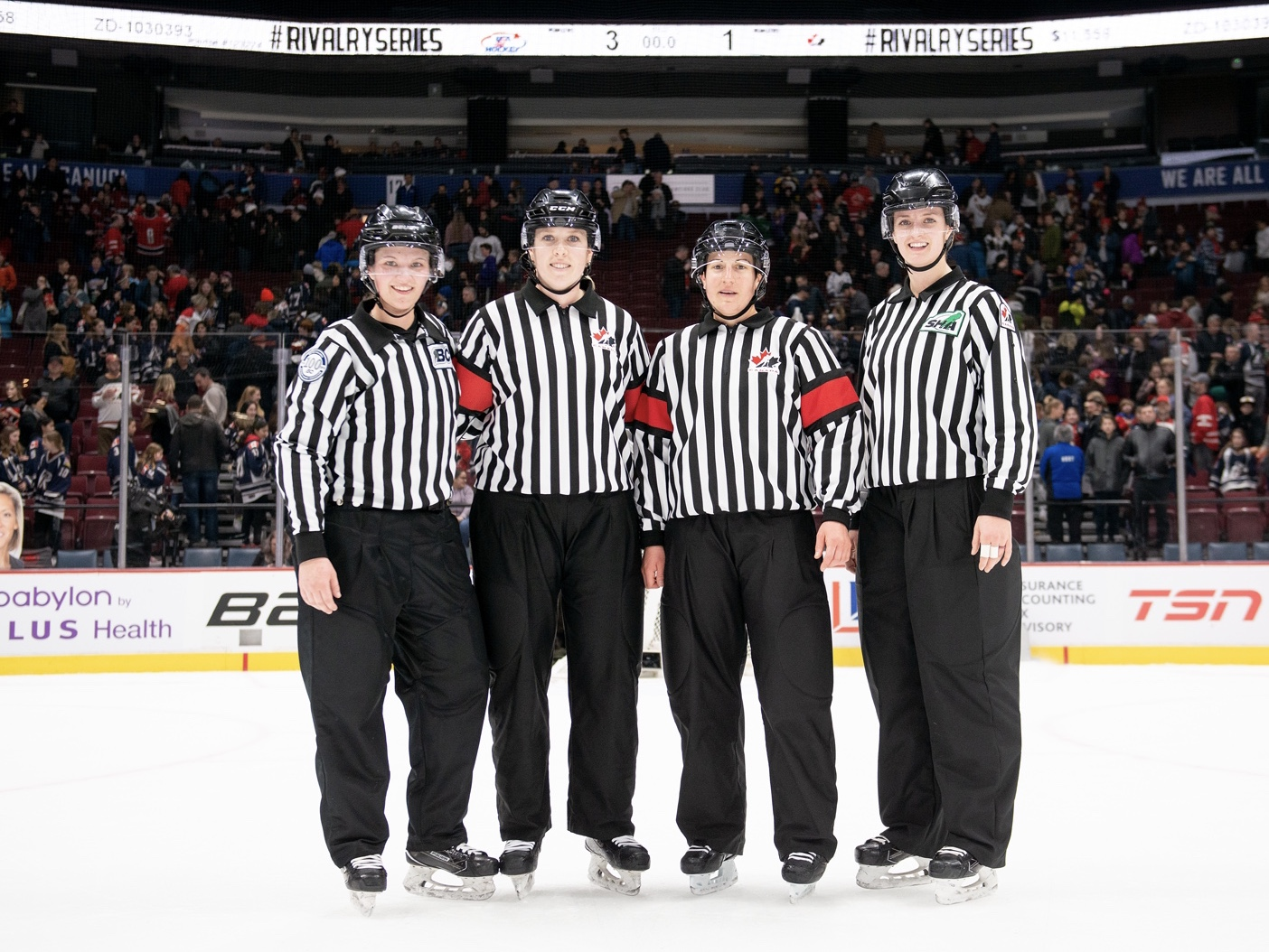 """""""I was skating with the two best teams in female hockey!"""" : PG ref reflects on Rivalry series"""